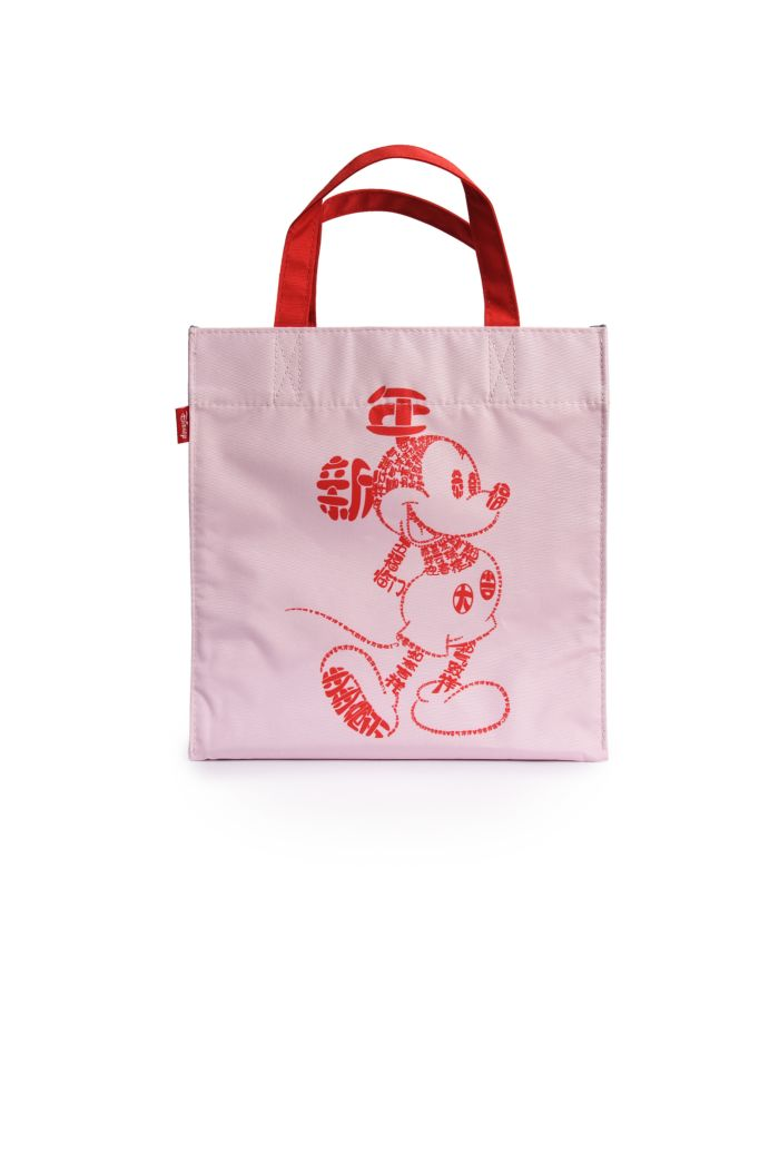 MICKEY CNY CALLIGRAPHY LUNCH BAG CREAM 23.5cm x 23.5cm