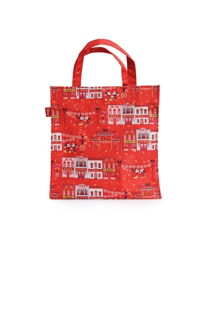 MICKEY CNY CHINATOWN LUNCH BAG RED 23.5cm x 23.5cm