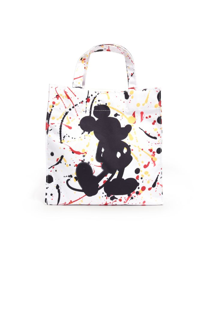 MICKEY SPLATTER LUNCH BAG WHITE 23.5cm x 23.5cm