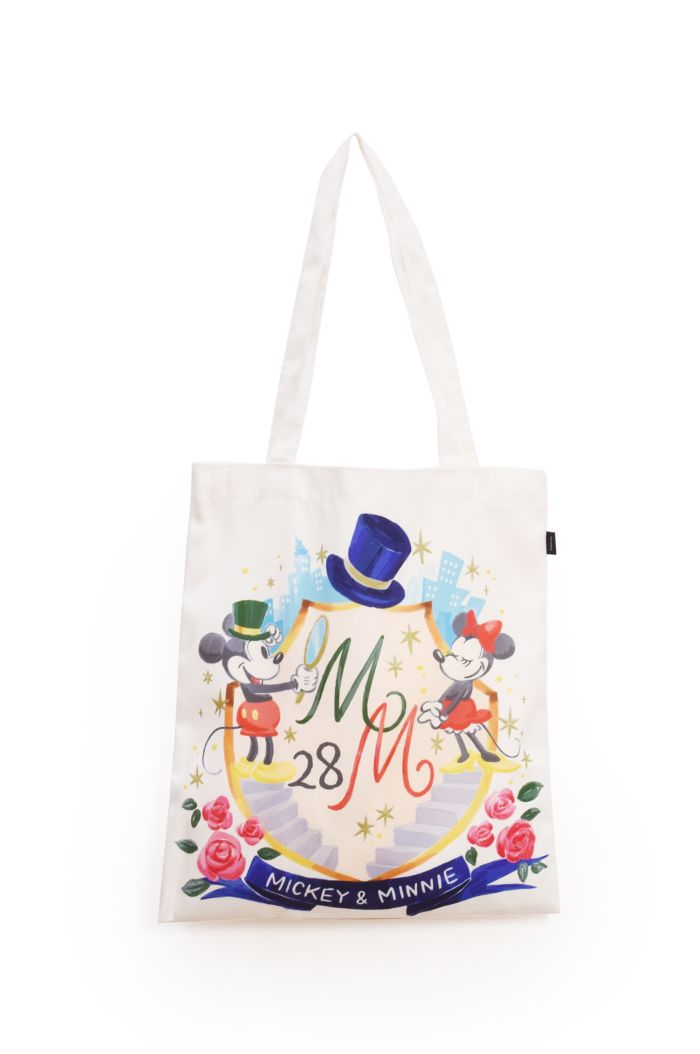 MICKEY MINNIE 28TH CANVAS TOTE BAG WHITE 39cm x 35.5cm