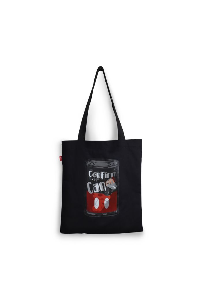MICKEY CAN CANVAS TOTE BAG BLACK 39cm x 35.5cm
