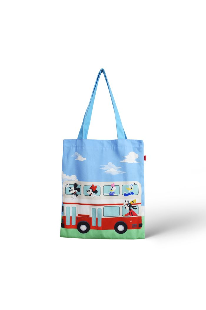 MICKEY BUS CANVAS TOTE BAG BABYBLUE 39cm x 35.5cm