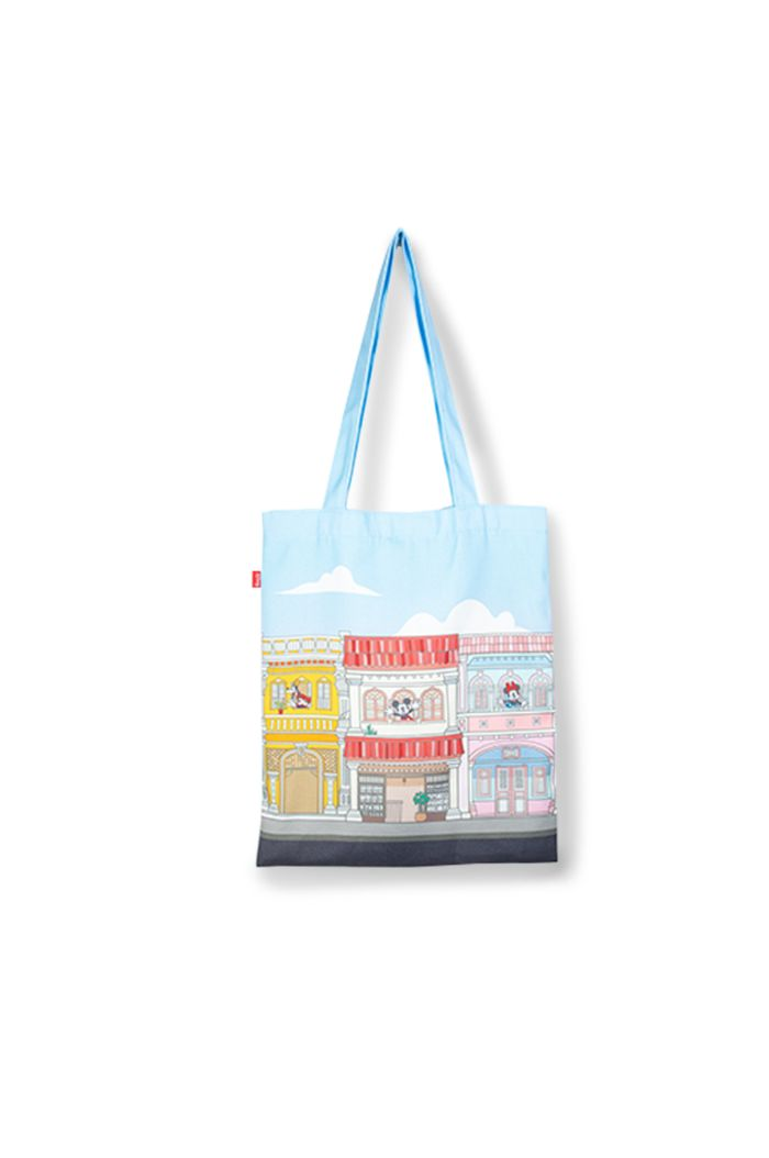 MICKEY SHOPHOUSES CANVAS TOTE BAG