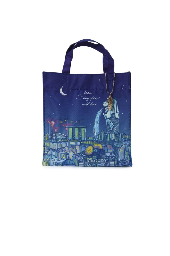 SINGAPORE NIGHT TIME LUNCH BAG NAVY NA