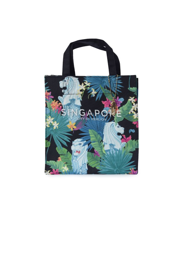 SINGAPORE MERLION ORCHIDS LUNCH BAG