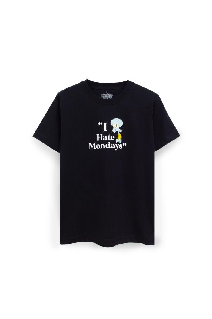 SPONGEBOB I HATE MONDAYS T-SHIRT BLACK XS