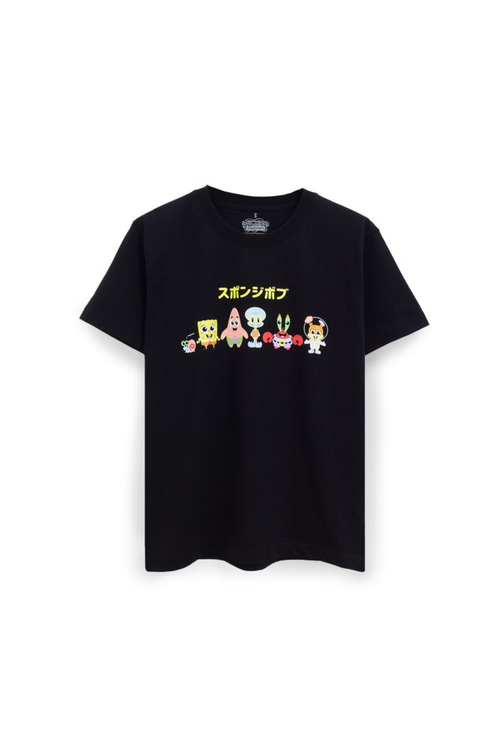SPONGEBOB KAWAII T-SHIRT BLACK XS