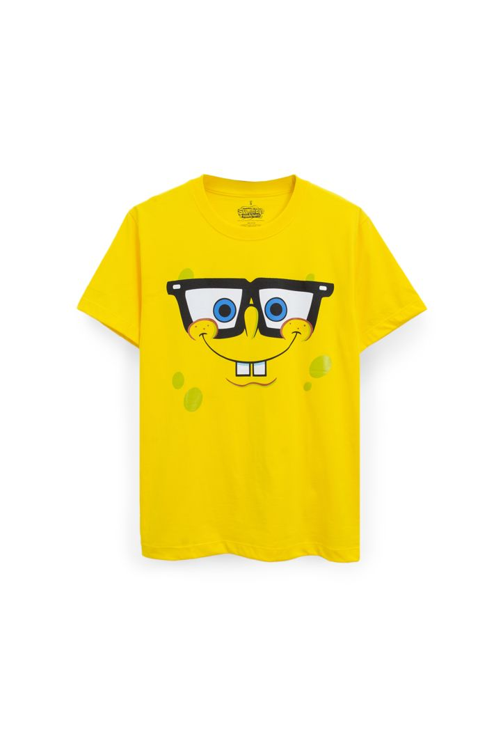 SPONGEBOB FACE T-SHIRT YELLOW XS