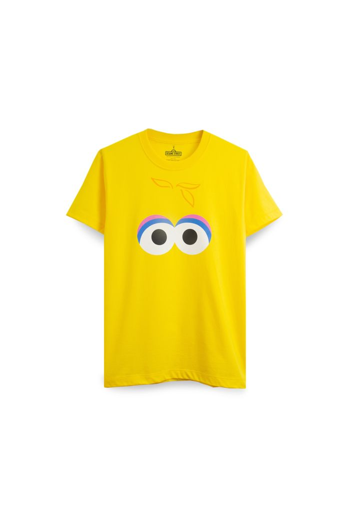 SESAME BIG BIRS FACE T-SHIRT YELLOW XS