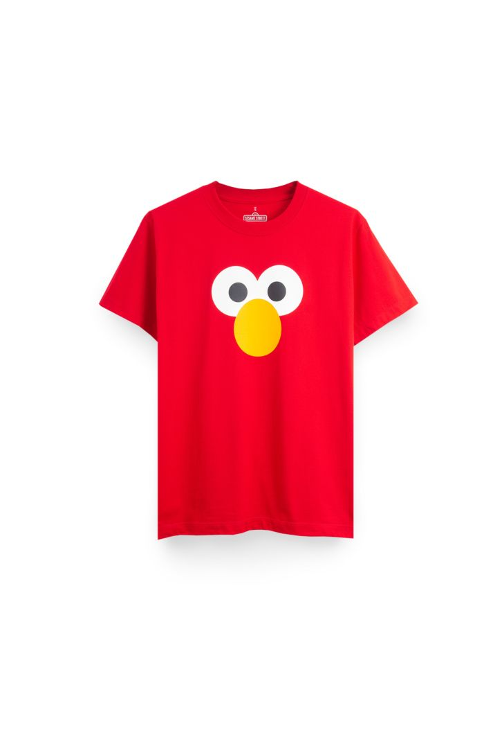 SESAME ELMO FACE T-SHIRT RED XS