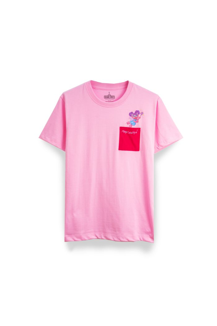 SESAME ABBY POCKET T-SHIRT PINK XS
