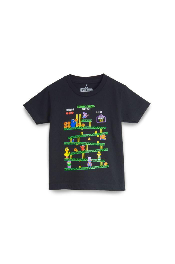 SESAME GAME T-SHIRT - KIDS BLACK L
