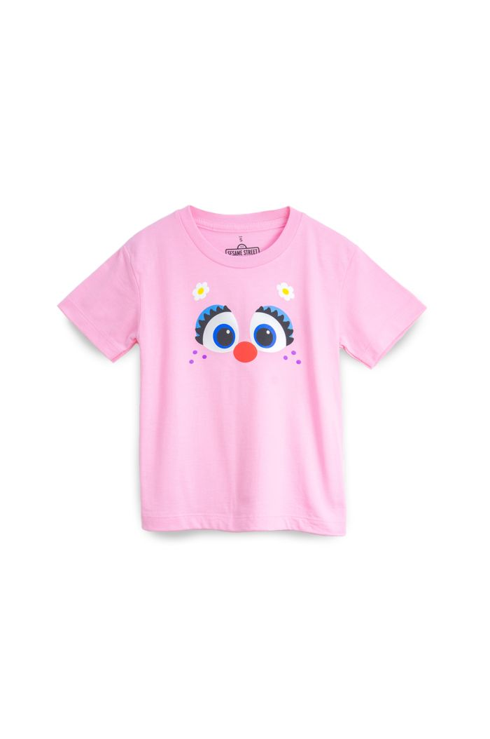 SESAME ABBY FACE T-SHIRT - KIDS PINK S