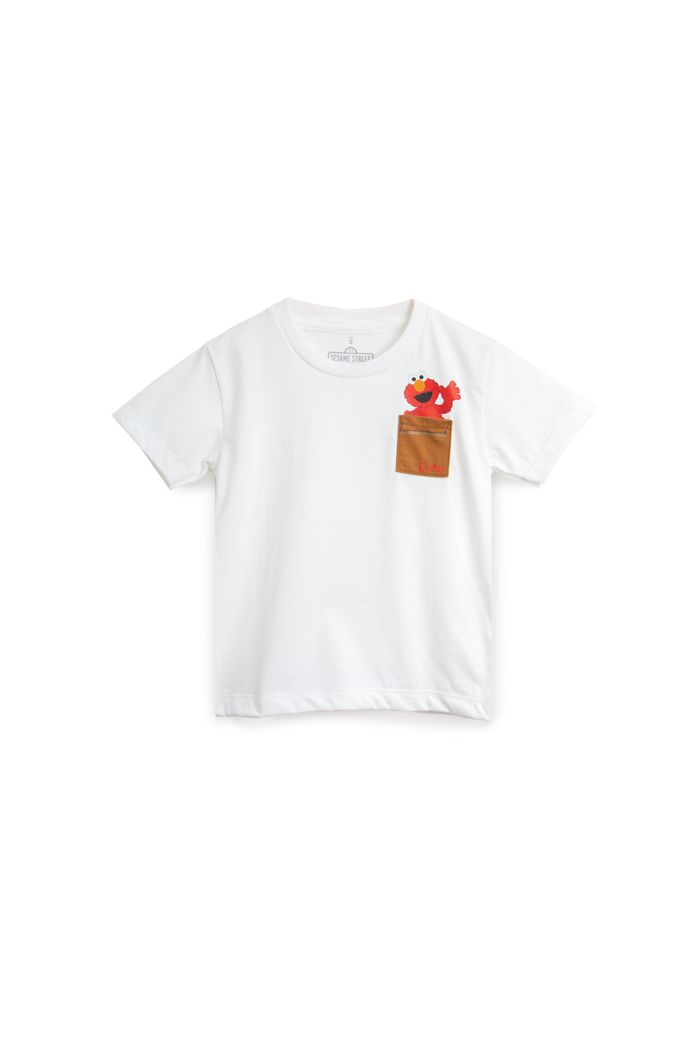 SESAME ELMO POCKET T-SHIRT - KIDS