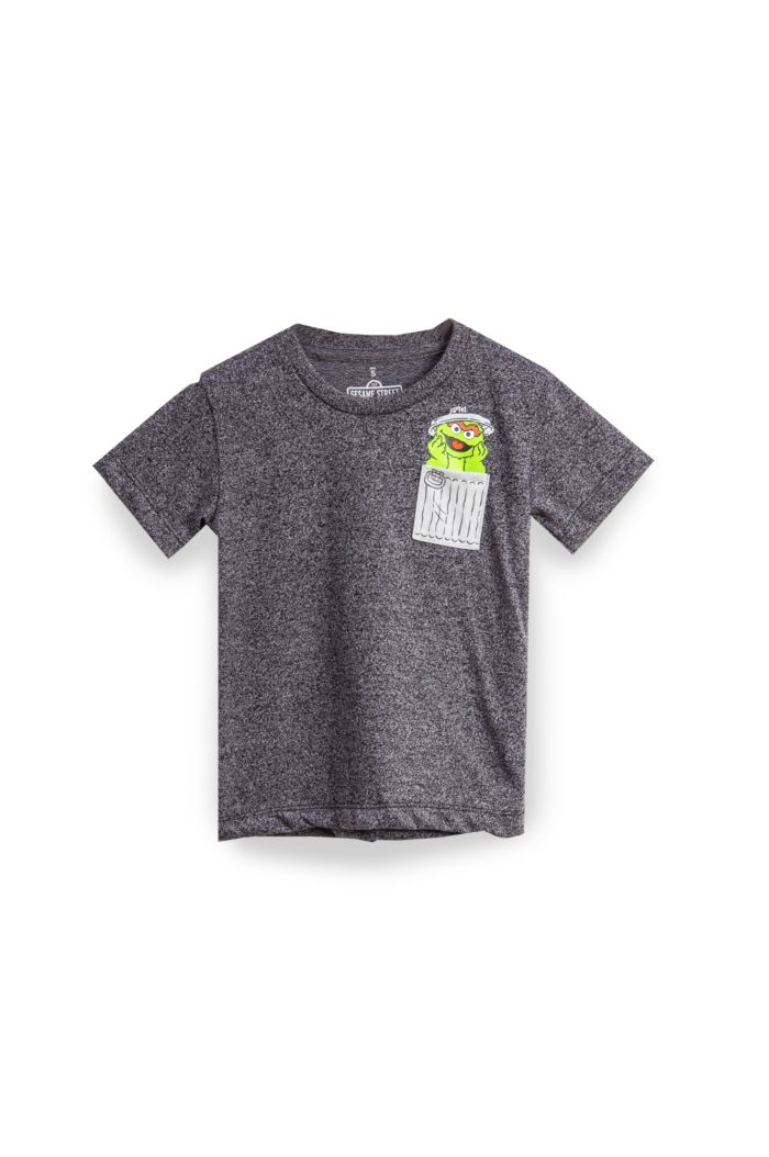 SESAME OSCAR POCKET T-SHIRT - KIDS
