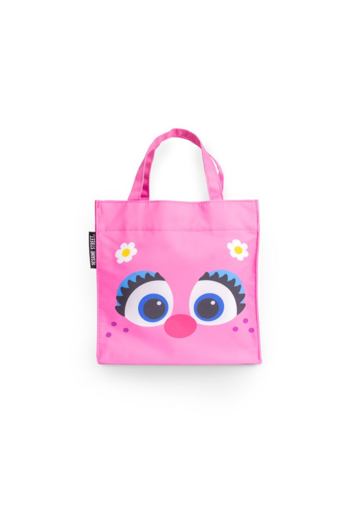 SESAME ABBY FACE LUNCH BAG PINK 23.5cm x 23.5cm