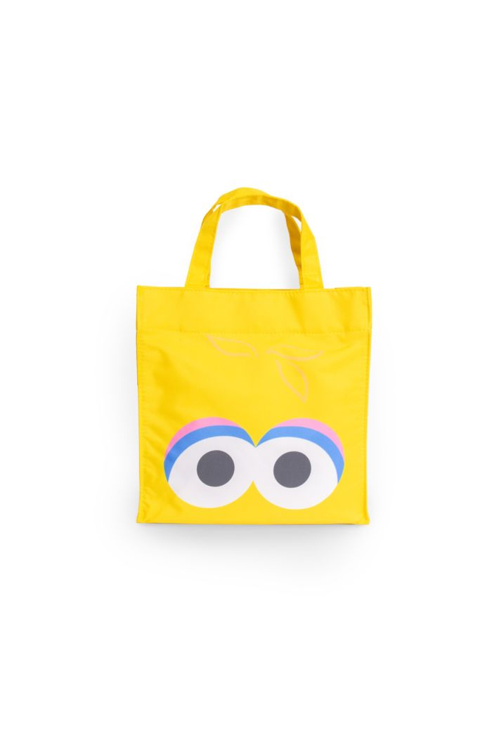 SESAME BIG BIRD FACE LUNCH BAG YELLOW 23.5cm x 23.5cm