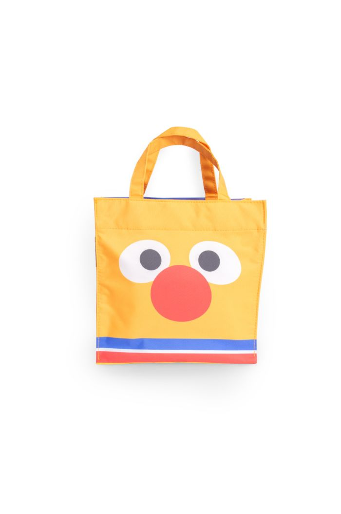 SESAME ERNIE FACE LUNCH BAG ORANGE 23.5cm x 23.5cm