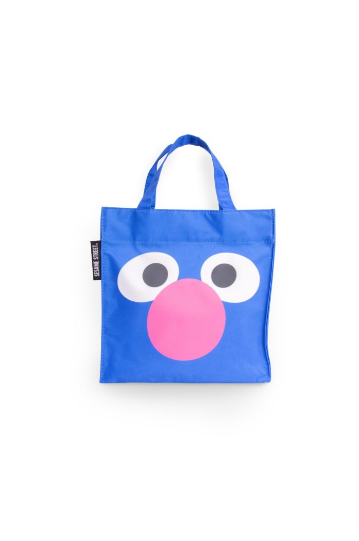 SESAME SUPER GROVER FACE LUNCH BAG BLUE 23.5cm x 23.5cm