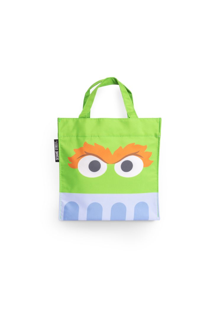 SESAME OSCAR FACE LUNCH BAG GREEN 23.5cm x 23.5cm