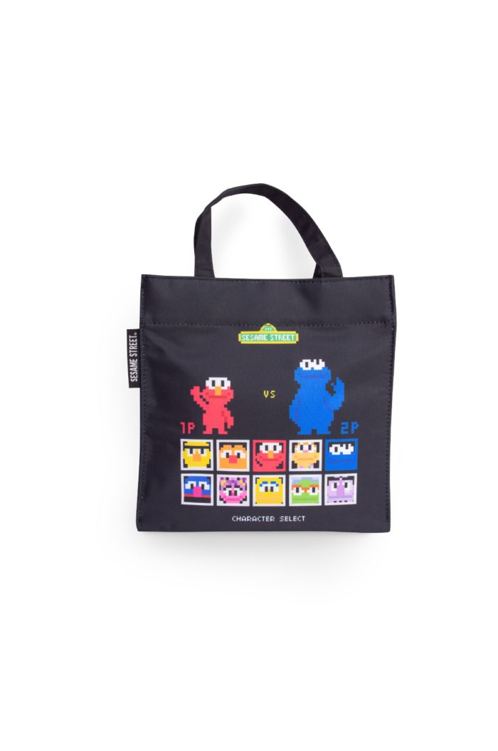 SESAME GAME LUNCH BAG BLACK 23.5cm x 23.5cm
