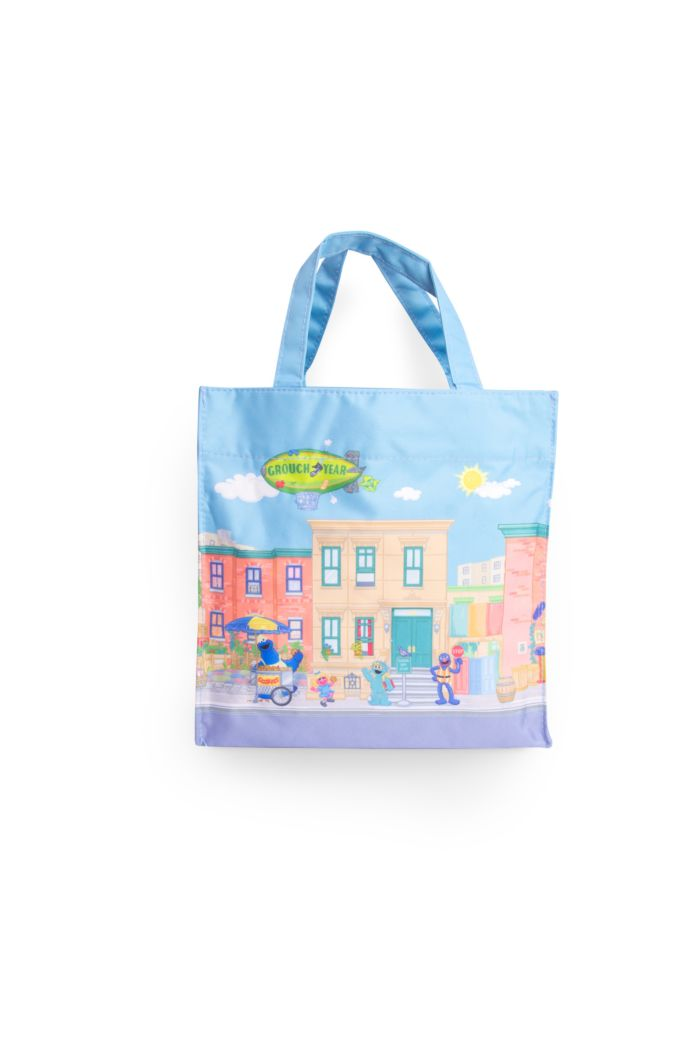 SESAME STREET WE LIVE ON LUNCH BAG BLUE 23.5cm x 23.5cm