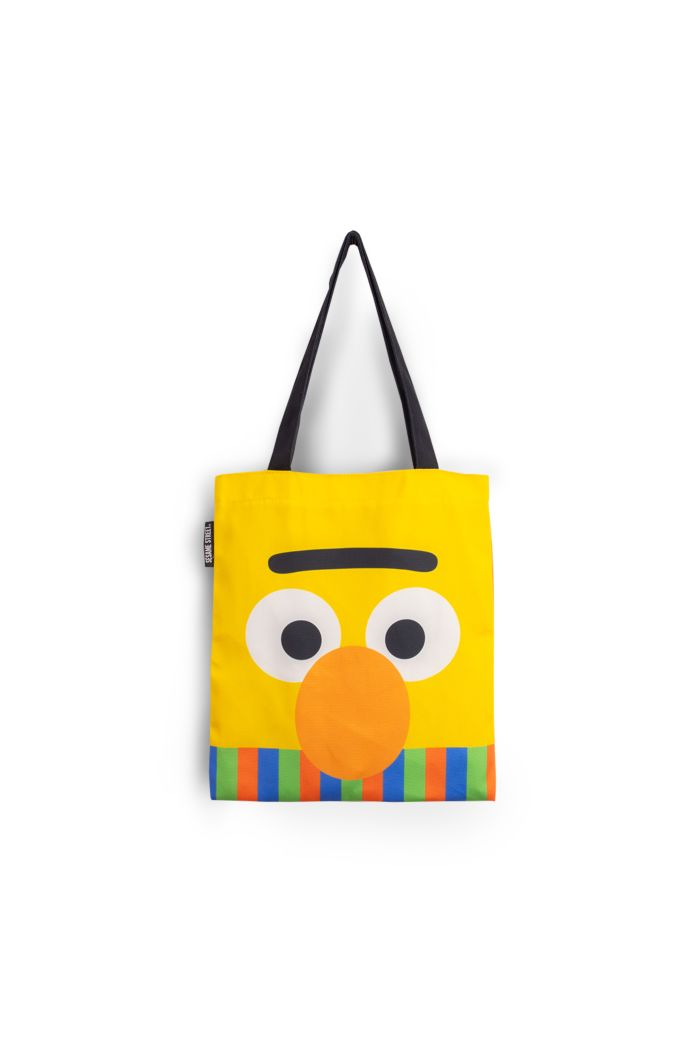 SESAME BERT FACE CANVAS TOTE BAG YELLOW 39cm x 35.5cm
